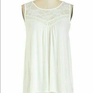 Mod cloth Sweet lace cotton top
